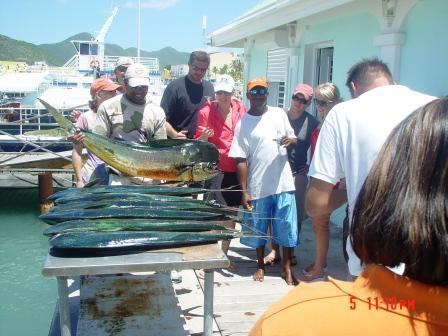 St Maarten Fishing :fishing with Dad